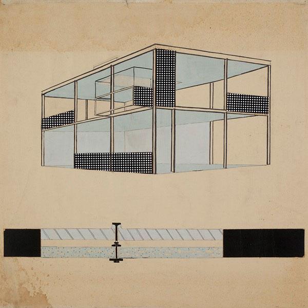 Tekening van Gerrit Rietveld - inspiratie voor Studio Thier & van Daalen voor het ontwerp van de Angled Cabinet voor Vij5