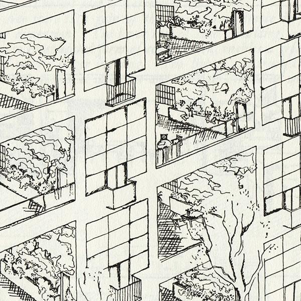 Schets van Le Corbusier - inspiratie voor Studio Thier & van Daalen voor het ontwerp van de Angled Cabinet voor Vij5