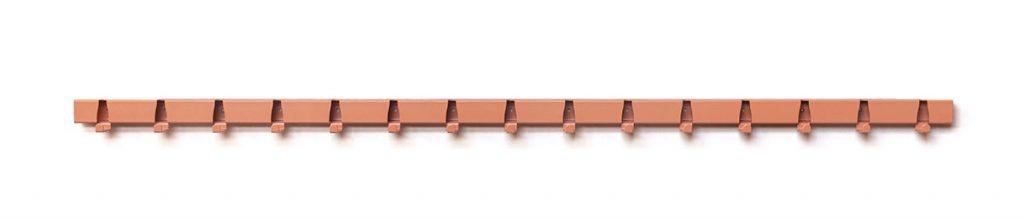 Coatrack by the Meter - nieuwe kleuren 1,5 meter RAL3012 Beige-rood