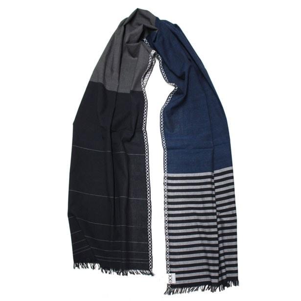 fibonacci fabrics shawl black blue s shop