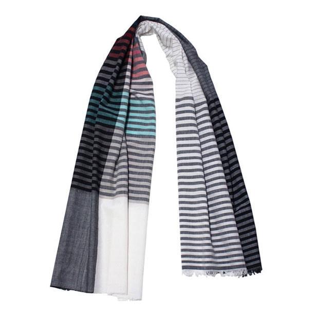 fibonacci fabrics shawl multi stripe s shop