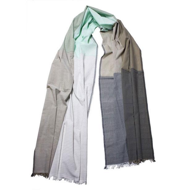 fibonacci fabrics shawl neutral green l shop