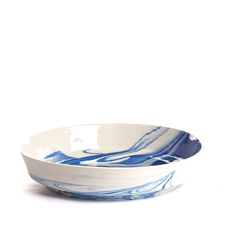 pigments porcelain bowl cobalt