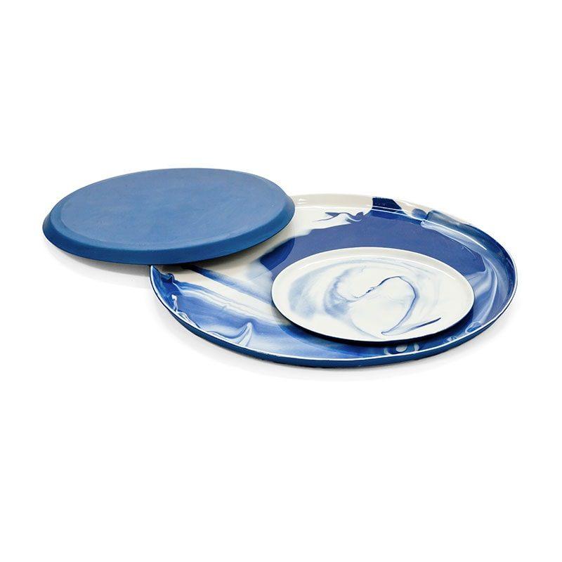 pigments porcelain plates stack cobaltblue shop