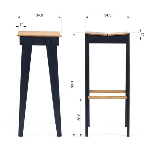 tilt bar stool dimensions 1
