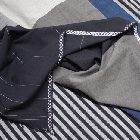 vij5 fibonacci fabrics shawl black blue detail 01 2014 image by vij5 shop
