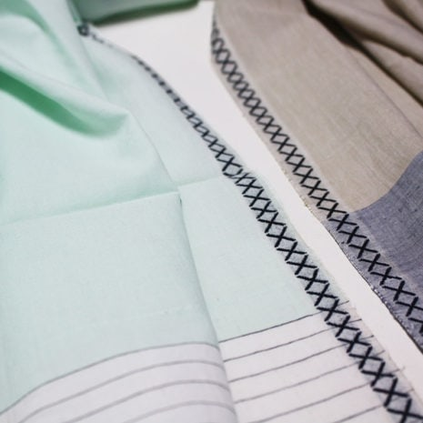 vij5 fibonacci fabrics shawl neutral green detail 02 2014 image by vij5 shop