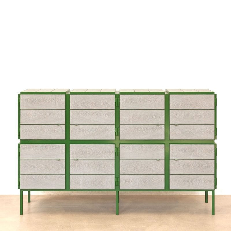 vij5 framed cabinet 4x2 door custom size custom colour ral6010 image by vij5 2
