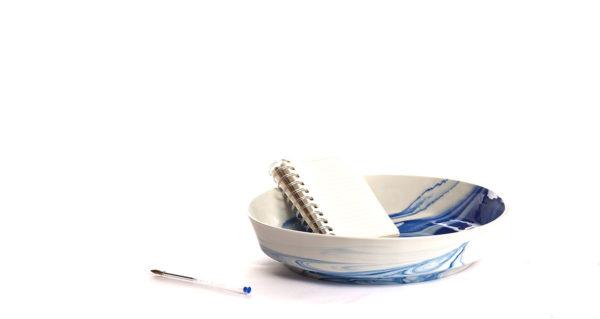 vij5 pigments porcelain bowl blue filled 2015 image by vij5