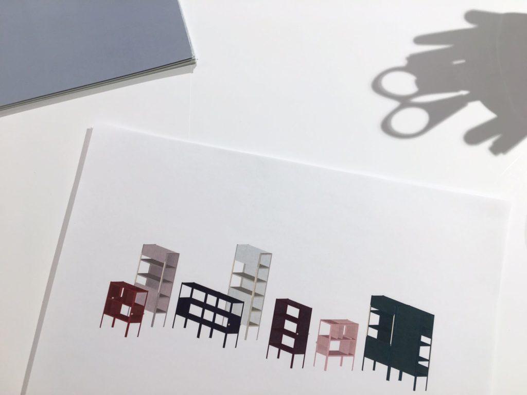 Dressed Cabinet - schetsen door Puck Dieben