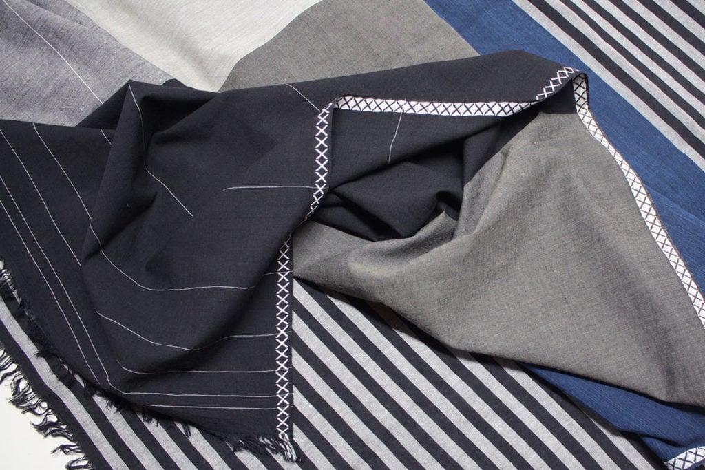 vij5 fibonacci fabrics shawl black blue detail 01 2014 image by vij5 800x1200 1