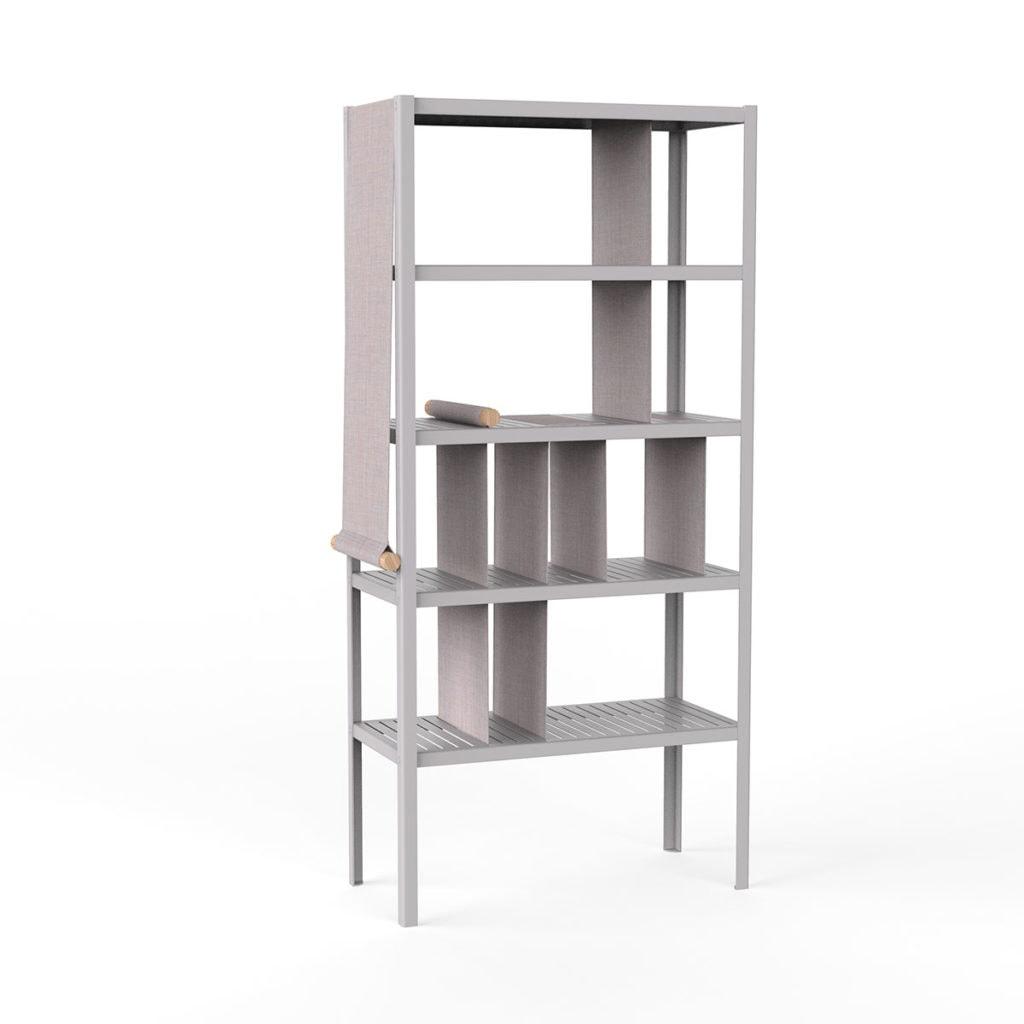 dressed cabinets ral7036 kvadrat716 hoog doek2