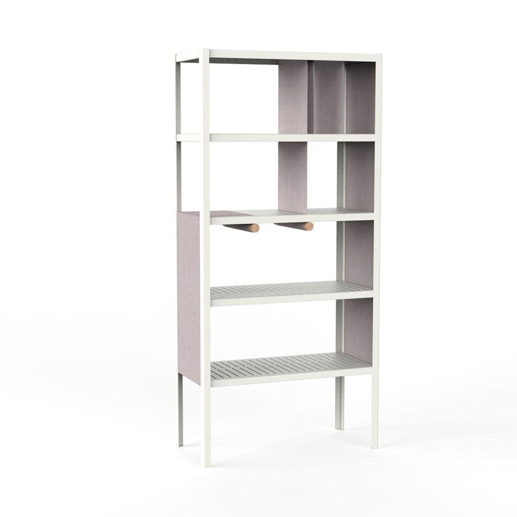 dressed cabinets ral9002 kvadrat716 hoog doek3