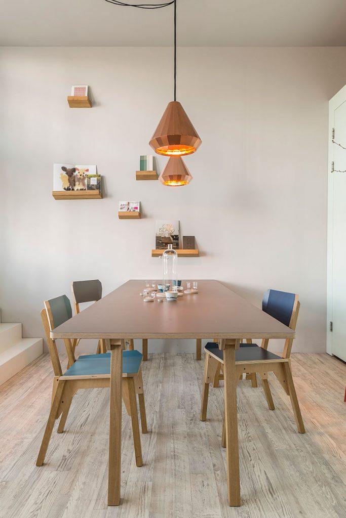 s chair copper lights s table lookshelf in project foto door jeroen van der wielen